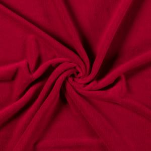 Tela de coralina lisa en color rojo muy suave y caliente