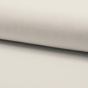 Tela de camiseta punto de algodón color blanco