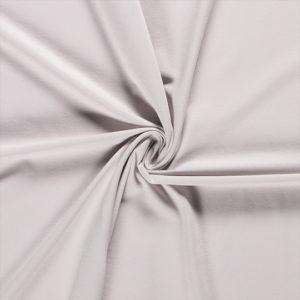 Tela de camiseta punto de algodón color gris claro