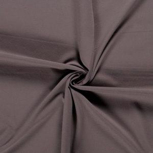 Tela de camiseta punto de algodón color gris oscuro