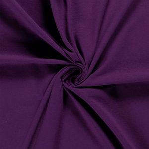 Tela de camiseta punto de algodón color lila