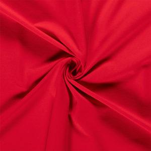 Tela de camiseta punto de algodón color rojo