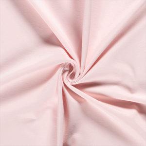 Tela de camiseta punto de algodón color rosa claro