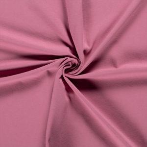 Tela de camiseta punto de algodón color rosa viejo