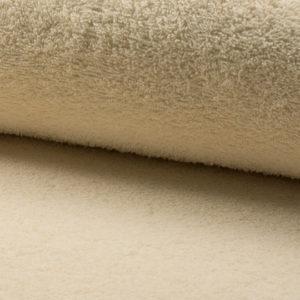 Tela de rizo de algodón o toalla color beige