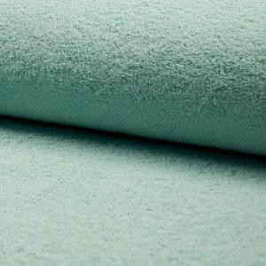 Tela de rizo de algodón o toalla color mint