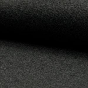 Tela de puño o canalé color gris carbón