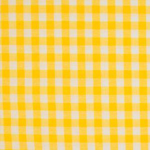 Tela de algodón tipo Vichy para patchwork color amarillo