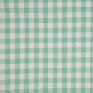 Tela de algodón tipo Vichy para patchwork color mint