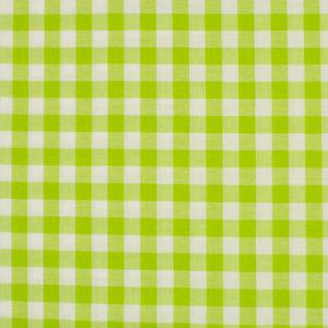 Tela de algodón tipo Vichy para patchwork color pistacho