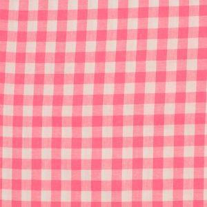 Tela de algodón tipo Vichy para patchwork color rosa chicle