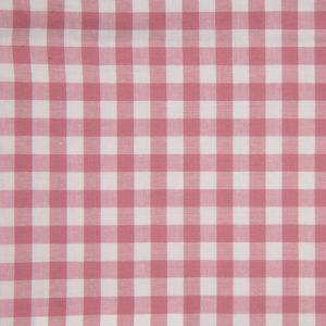Tela de algodón tipo Vichy para patchwork color rosa viejo