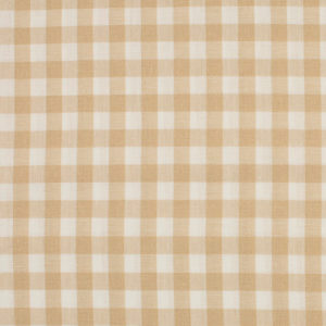 Tela de algodón tipo Vichy para patchwork color taupé