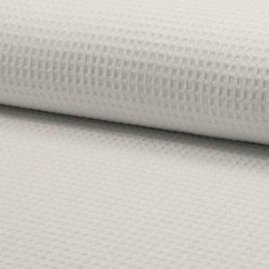 Tela de wafle color blanco