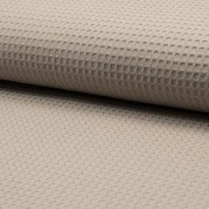 Tela de wafle color taupé