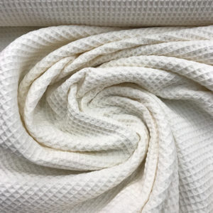 Tela waffle o tela gofre color beige