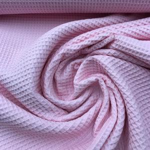 Tela waffle o tela gofre color rosa