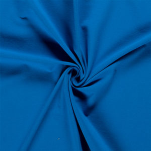 Tela de camiseta punto de algodón color azul marino