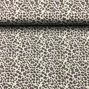 Patchwork estampado animal print color gris de fondo