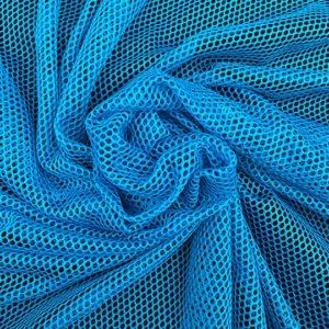 Tela de forro de malla de bañador o conocido como mesh color azul