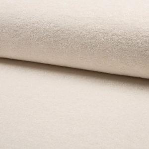 Tela de rizo de bambú o toalla color crudo