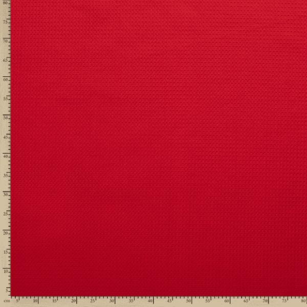 Tela waffle o tela gofre color rojo