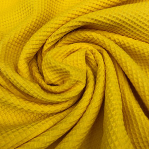 Tela waffle o tela gofre color amarillo