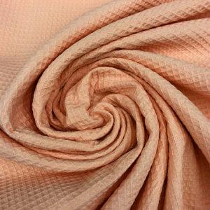 Tela waffle o tela gofre color salmon