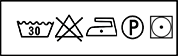 Símbolo lavado loneta de algodón