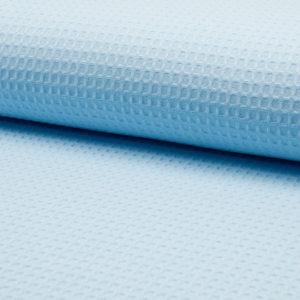 Tela waffle o tela gofre color azul claro