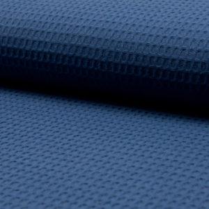 Tela waffle o tela gofre color azul