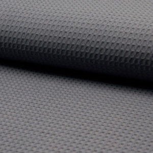 Tela waffle o tela gofre color gris