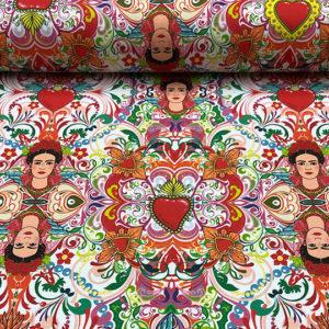 Loneta algodón impresión digital Frida