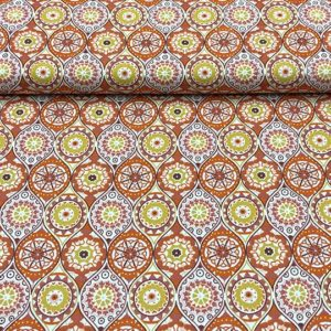 Patchwork estampado mandalas marrón