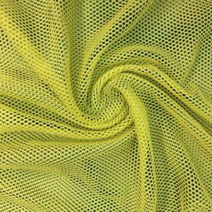Tela de forro de malla de bañador o conocido como mesh color amarillo