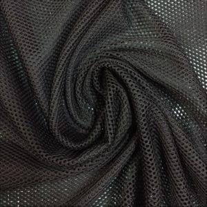 Tela de forro de malla de bañador o conocido como mesh color negro