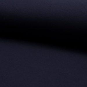 Tela de punto de sudadera de invierno de algodón liso en color azul navy