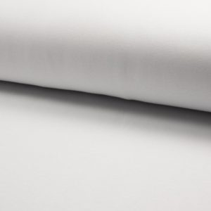Tela de punto de sudadera de invierno de algodón liso en color blanco óptico