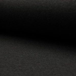 Tela de punto de sudadera de invierno de algodón liso en color gris oscuro