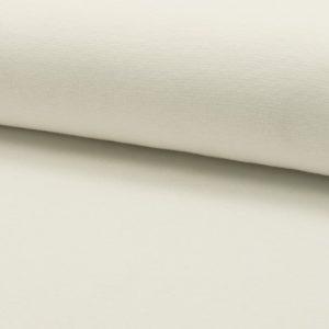 Tela de puño o canalé color crudo