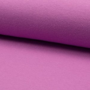 Tela de puño o canalé color lila
