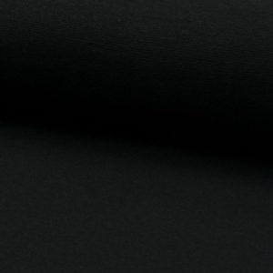 Tela de puño o canalé color negro