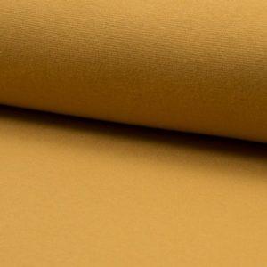 Tela de puño o canalé color ocre