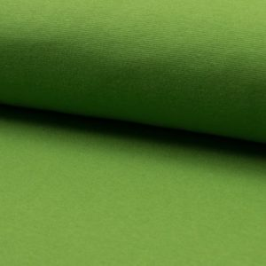 Tela de puño o canalé color verde