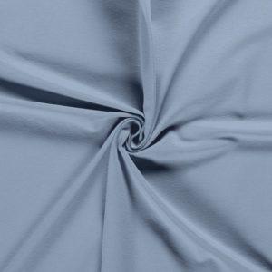 Punto de algodón o tela de camiseta tipo Jersey color dusty blue