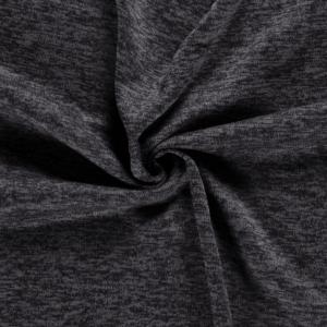Tela de sudadera de invierno poliéster jaspeado gris oscuro