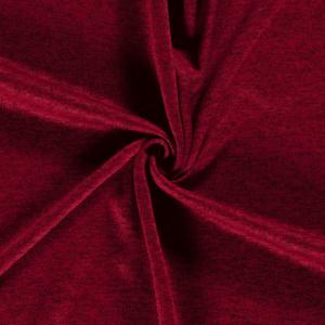Tela de sudadera de invierno poliéster jaspeado rojo oscuro