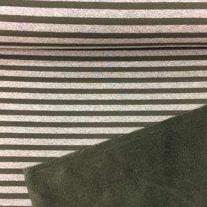 Sudadera invierno estampada con rallas caquis fondo gris