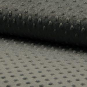 Minky gris medio para confecciones de invierno con moteado en relieve