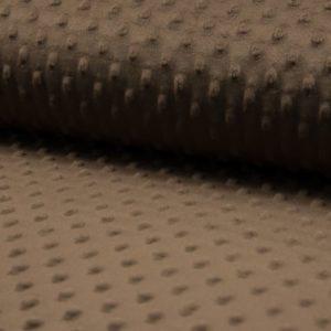 Minky marron para confecciones de invierno con moteado en relieve